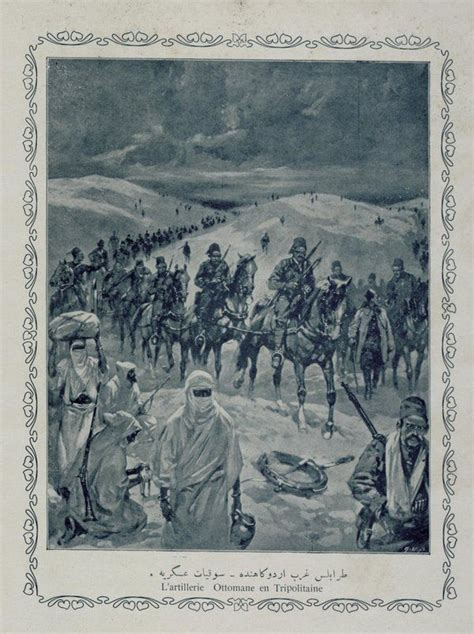 Ottoman Empire Italy by Tripoli War Libya Ottoman Italy War 1911 Trablusgarp