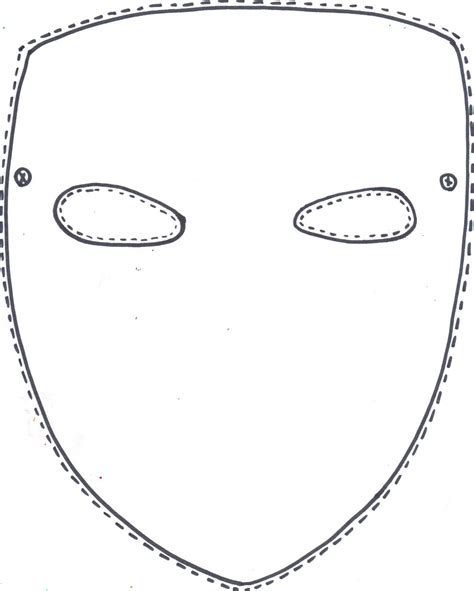 mask template blank mask coloring pages
