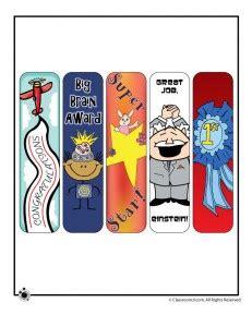 printable bookmarks  teachers woo jr kids activities