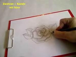 Bilder Zeichnen Für Anfänger : zeichnen lernen f r anf nger blume zeichnen eine bl hende rose malen youtube ~ Frokenaadalensverden.com Haus und Dekorationen