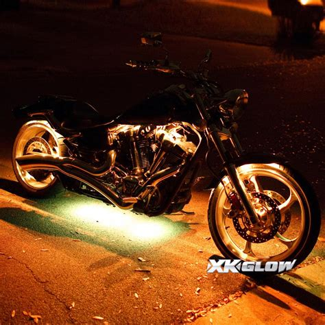 underglow lights for motorcycles 8 pod 4 strip 7 color wireless remote kit for motorcycle
