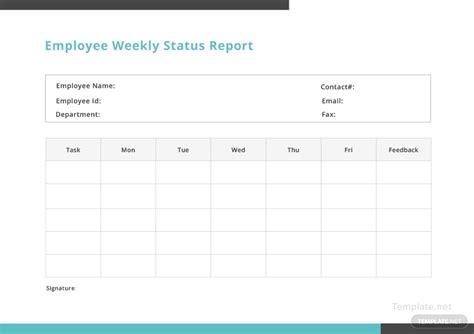 employee weekly status report template  microsoft word