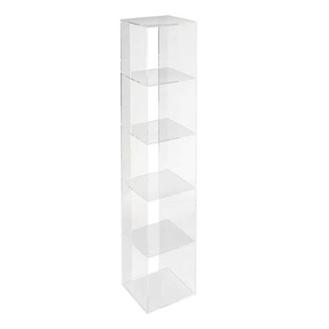 acrylic bookcase now you see it acrylic bookcase the land of nod