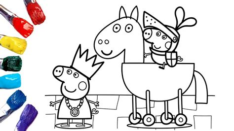 Peppa Pig Princess Coloring Pages Coloring Home