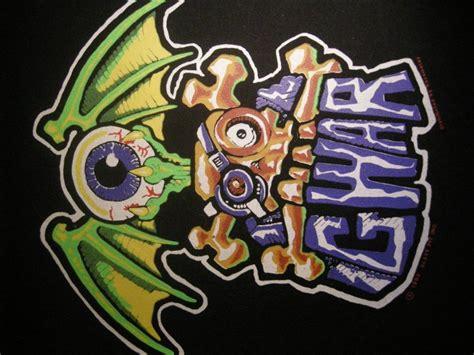 gwar backpatch eyeball skull logo patch vintage