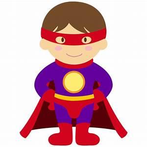 Kids, Dressed, As, Superheroes, Clipart