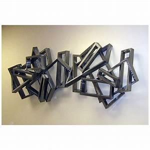 Sculpture Metal Murale : arqitecture metal tableau rectangles 3d d coration ~ Teatrodelosmanantiales.com Idées de Décoration