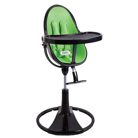 chaise haute nano bloom bloom black fresco chrome baby high chair green seat