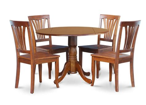 round table dinette sets 5pc dinette kitchen dining set round 42 quot table 4 wood