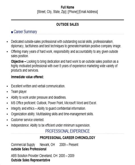 Resume Templates Sales Position by 10 Sle Sales Resume Templates Pdf Doc Free