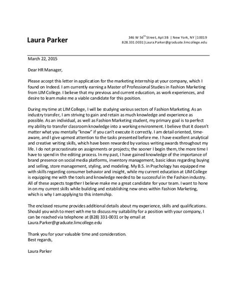 Fashion Internship Cover Letter by Dear Manager Accept This Letter Application For