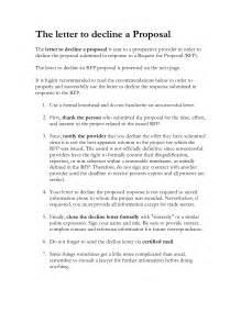 Proposal Rejection Letter Sample