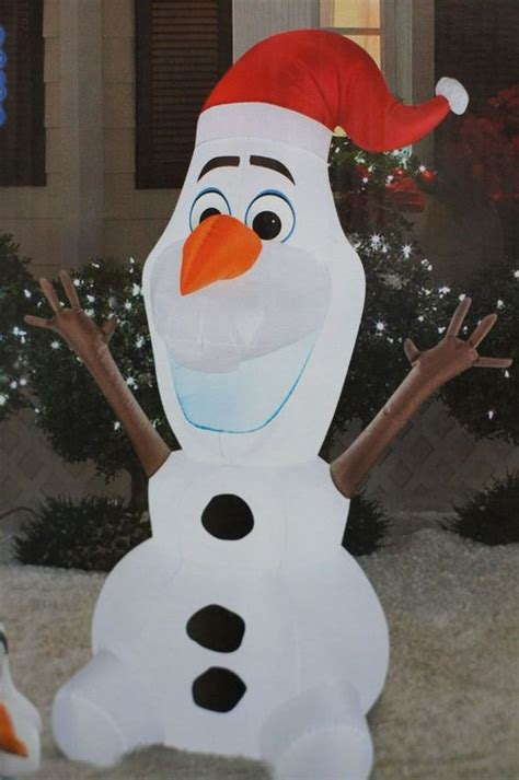 disney frozen olaf 5 feet inflatable home decoration christmas santa claus decor disney