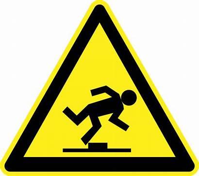 Hazard Sign Trip Clipart Warning Step Clip