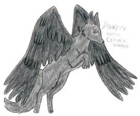Wolves with Wings Drawings