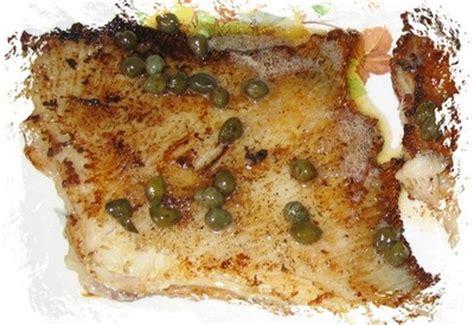 cuisiner la raie au beurre noir recette raie au beurre noir et aux câpres 750g
