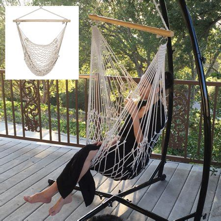 Cotton Hammock Chair by Cotton Rope Hammock Cradle Chair With Wood Stretcher