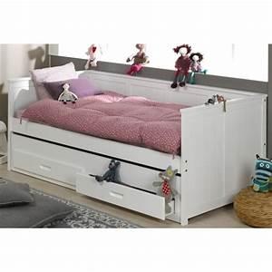 Zaz lit enfant gigogne laque 2 tiroirs2matelas achat for Deco chambre enfant avec achat matelas latex 90x190