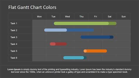 editable gantt chart  powerpoint slidemodel
