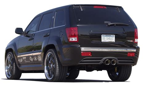 srt8 jeep exhaust jeep grand cherokee srt8 cat back exhaust system round