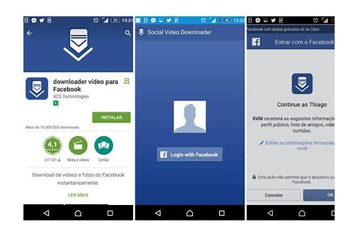 como baixar videos do app facebook