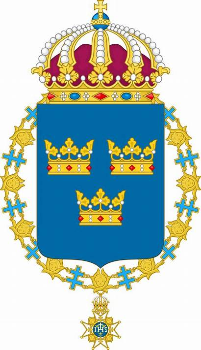 Arms Coat Sweden Chain Shield Svg Wikipedia