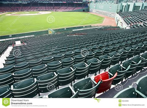 Lone Red Seat At Fenway Park In Boston, Ma Editorial Photo