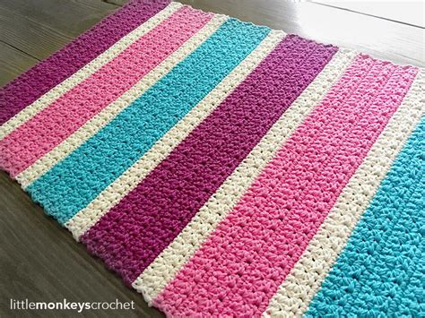 Bubble Gum Accent Rug AllFreeCrochet.com