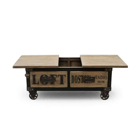 salon sans canapé table basse bar york industriel