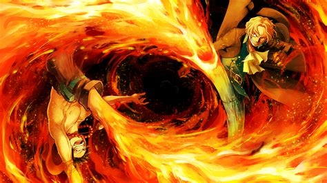 Download 3840x2160 One Piece, Ace, Sanji, Fire, Fight