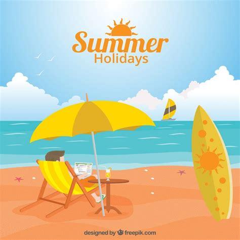 Free Vector | Summer holidays illustration