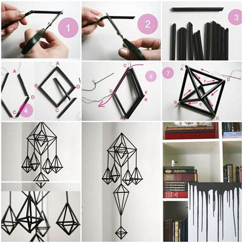 diy unique hanging decorations  straws