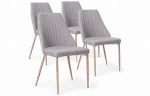 Chaise Scandinave Simili Cuir : chaise simili cuir gris ~ Teatrodelosmanantiales.com Idées de Décoration