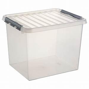 Bac En Plastique Pas Cher : stapelbare q line opbergbox 36 liter blokker ~ Melissatoandfro.com Idées de Décoration