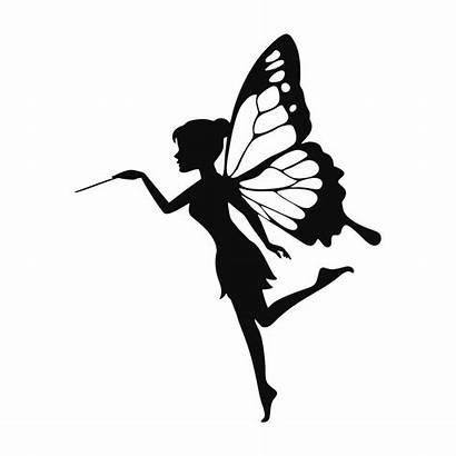Fairy Silhouette Printable Vector Fairies Clip Stencil