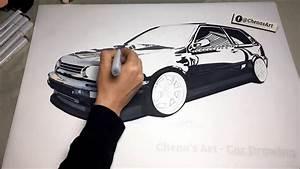 Volkswagen Golf 3 Drawing  U2606 Vr6  U2606 Gti  U2606 Draw  U2606 Art  U2606