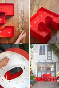Diy outside crafts and ideas we know how to do it for Posterboard letters