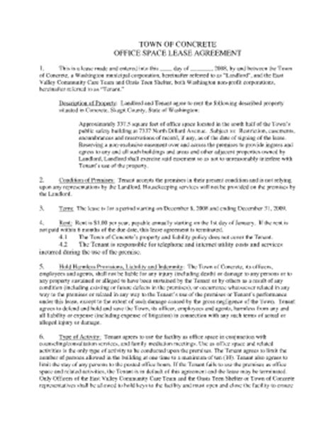 Lease Agreement For Office Space Template by Bill Of Sale Form Washington State Month To Month Rental