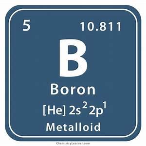 Boron Facts  Symbol  Discovery  Properties  Common Uses