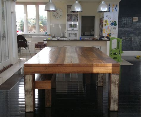 Semi Industrialrustic Dining Table 1214 Seater My