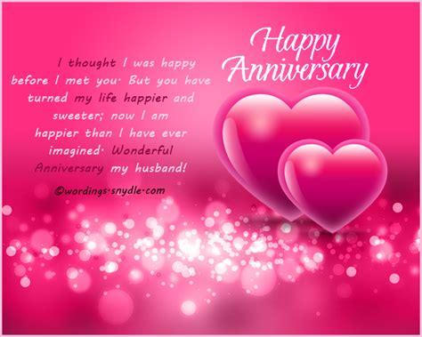 wedding anniversary messages  husband wordings