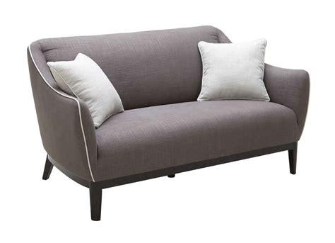 canap 233 r 233 tro 2 places en tissu taupe oswald achatdesign