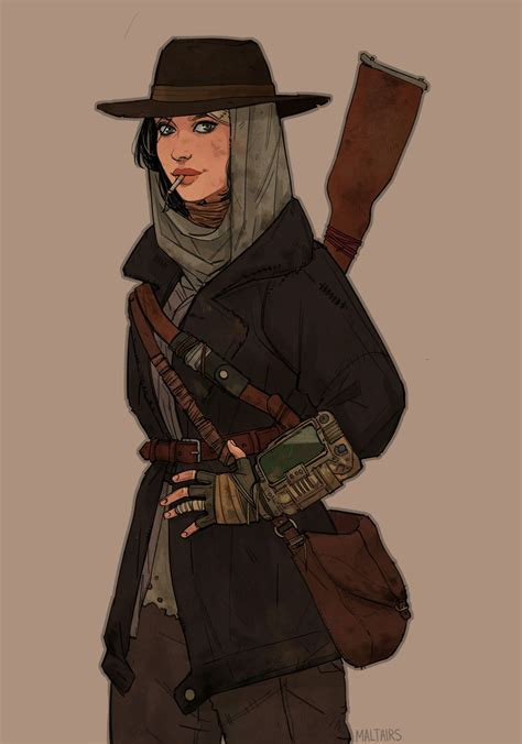 Courier 6 By Alice Hamelreasonable Fantasy Fallout Art