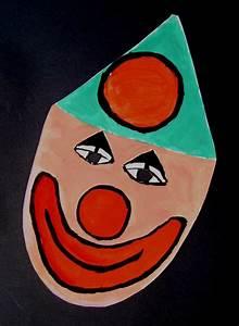 Masque Pour Peinture : masque clown sourire pour les enfants peinture gouache ~ Edinachiropracticcenter.com Idées de Décoration