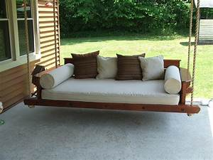 Porch Bed Swing Made With Western Red Cedar  Uses A