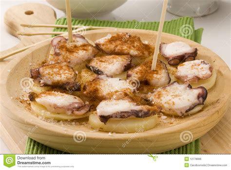 poulpe cuisine cuisine espagnole type de galicien de poulpe image libre