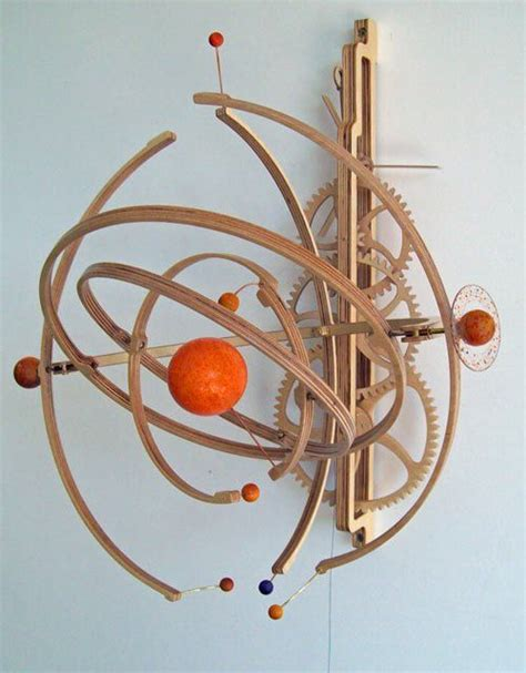 check   wooden planets kinetic sculpture wooden gear clocks pinterest pictures