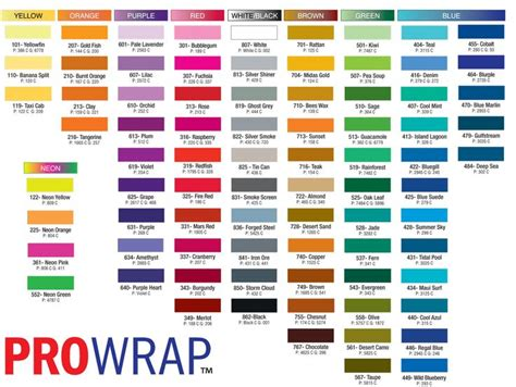 Pantone Color Chart With Names