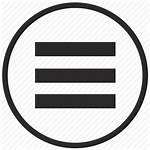 Menu Icon Bar Icons Border Round Profibus