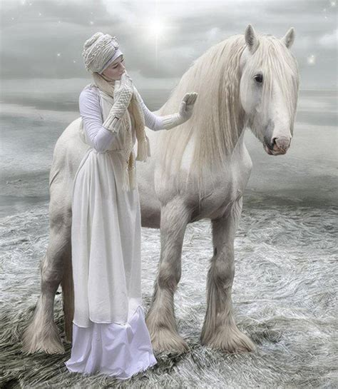 horse horses snow fantasy gorgeous woman lady pretty ever wild prettiest grey pic pure queen cock